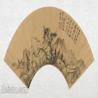 【打印级】GH6070288古画山水风景扇面图片-39M-5300X2607