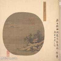 【印刷级】GH6081128古画山水风景宋燕文贵江邨图小品图片-42M-4000X3683