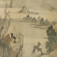 禹之鼎张鲁翁像卷-清朝-人物
