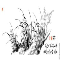 【超顶级】GH7280516古画植物郑板桥 兰镜片图片-567M-25197X7874