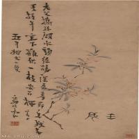 【印刷级】GH6040087古画立轴-清 高翔-折枝榴花图轴图片花草花卉植物-69M-2892X6291_56880429