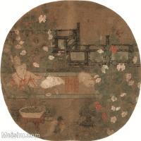 【印刷级】GH6080530古画人物佚名-狸奴婴戏图-小品图片-54M-4042X3858_18698607