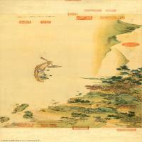 【超顶级】GH7280172古画山水风景赤壁图代绢镜片图片-166M-16354X3678