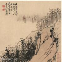 【印刷级】GH6060114古画石涛设色山水风景册页图片-52M-3993X3410_56931816