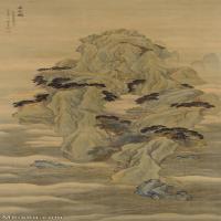 【欣赏级】GH6088705古画山水风景清-王云-方壶图-纳尔逊艾金斯艺术博物馆-碎片-立轴图片-19M-1682X4000_56828496