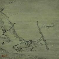 【欣赏级】GH6086143古画人物宋-梁楷-六祖截竹图-东京国立博物馆立轴图片-20M-1780X4099_1971057