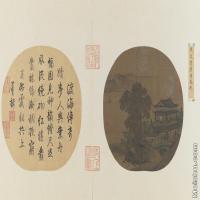 【印刷级】GH6080961古画山水风景宋-佚名-层楼春眺图小品图片-190M-10720X6213
