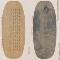 【印刷级】GH6081006古画山水风景柳塘牧马图页小品图片-123M-10774X4014