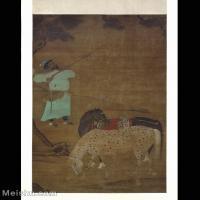 【印刷级】GH6155018古画立轴人物陈居中款 番骑图轴 大英博物馆图片-21M-2480X3042