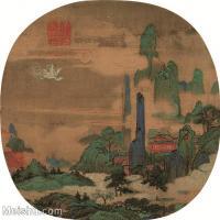 【印刷级】GH6080927古画山水风景佚名-仙山楼阁图-小品图片-49M-3812X3624_18331537