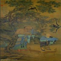 【打印級】GH6086142古畫人物宋-劉松年-羅漢圗之一-臺北故宮博物院藏立軸圖片-43M-2717X5557_1914725