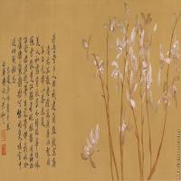 【印刷级】GH7280210古画花鸟九兰图粗绢镜片图片-113M-9886X3937_19501388