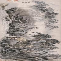 【超顶级】GH7280106古画山水风景归庵图纸镜片图片-222M-17570X3955_19106487
