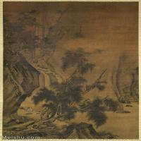 【打印级】GH6087014古画山水风景立轴图片-50M-3346X5300_15550491