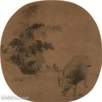 【印刷级】GH6080529古画人物佚名-牧牛图-小品图片-57M-3982X3795_18701493