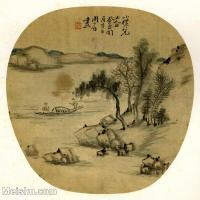 【印刷级】GH6081375古画山水风景-清代名家-小品图片-16M-2480X2369