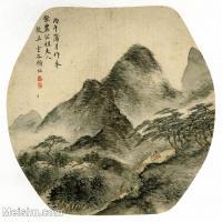 【印刷级】GH6081384古画山水风景-清代名家蒲月-小品图片-16M-2480X2340