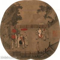 【印刷级】GH6080625古画人物杨妃上马图-国画工笔画-26.5x25-42x40-妃子-小品图片-38M-3625X3445_18699325