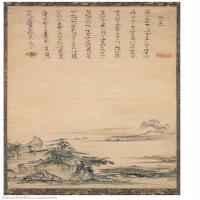 【打印级】GH6088753古画山水风景湖山小景图-立轴图片-87M-3072X9984_15445549