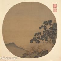 【印刷级】GH6081139古画山水风景古代-山涧松树木小品图片-37M-3815X3481