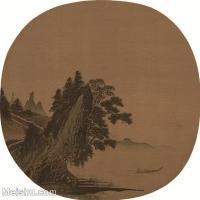 【印刷级】GH6081004古画山水风景李唐-松湖钓隐图小品图片-35M-3473X3445_4467806