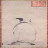 【欣赏级】GH6086146古画人物宋-梁楷-李白吟行-东京国立博物馆立轴图片-24M-1822X4646_1973833