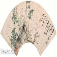 【打印级】GH6070264古画花卉植物树木清-恽寿平山水花卉扇面图片-72M-6344X2980