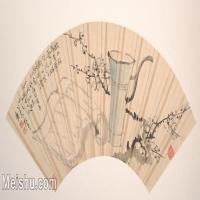 【欣赏级】GH6070220古画花卉植物树木扇面图片-5M-2000X962