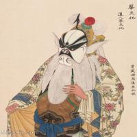 【印刷级】GH6061467古画脸谱(47)-人物-蔡天化册页图片-38M-3287X4138