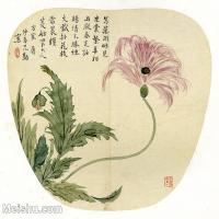 【印刷级】GH6080432古画花卉鲜花鸟-清代仲庆-小品图片-15M-2480X2230-15M-2480X2230