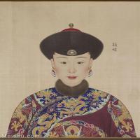 【印刷级】GH6151057古画册页人物清郎世宁高宗帝后像-颖嫔图片-6M-1300X1785_57613649