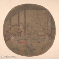 【印刷级】GH6080694古画人物古代-私塾小孩子老先生小品图片-37M-3612X3610