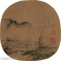【印刷级】GH6081033古画山水风景马远-柳岸远山图小品图片-48M-3819X3748_2056373