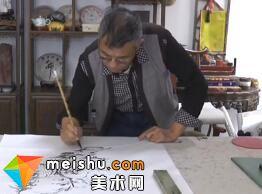 焦墨山水画家初中海-中国书画家