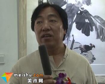 马硕山专访-写意花鸟画展