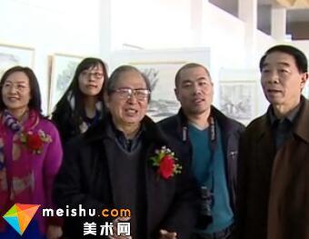 孙敬会从艺60年回乡亲情书画展开幕-《中国画都风向标》