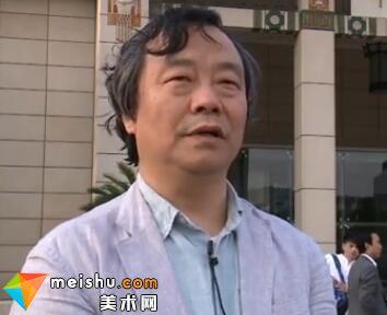 韩学中作品展在中国美术馆开幕-借月观山