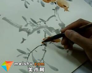 周午生老师讲授石榴小鸟画法(共两集)