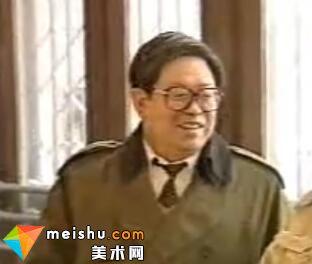 著名画家刘宝纯接受日本广播协会记者采访