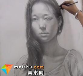 于萍素描女青年胸像(共两集)-美术高考视频教学