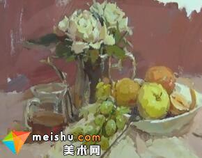 龚永光色彩花卉教学2-美术高考教程