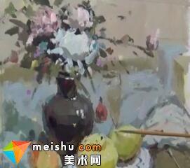 龚永光色彩静物花卉蓝调-美术高考教程