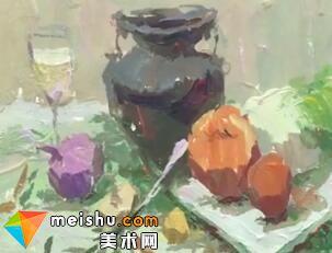 「美术高考」罗凯色彩静物蔬菜1-杭州凝结画室