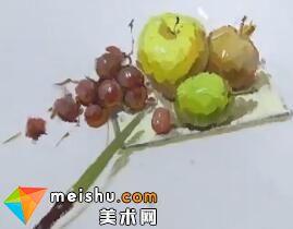 龚永光色彩组合水果盘-美术高考视频
