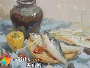 龚永光色彩静物罐子和鱼-美术高考教学视频