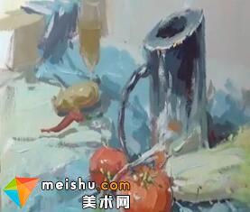 龚永光色彩静物不锈钢-美术高考教程