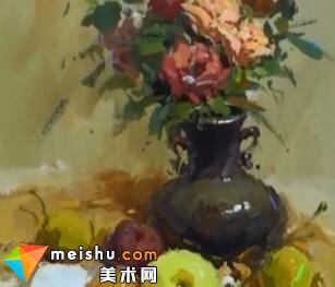 龚永光色彩花卉教学1-美术高考教程