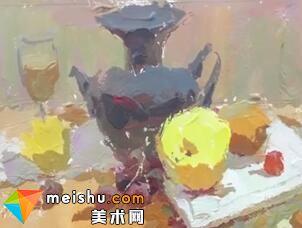 「美术高考」罗凯色彩静物2-杭州凝结画室