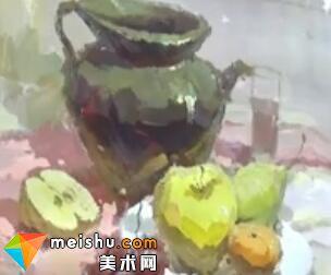 龚永光色彩静物罐子-美术高考教程