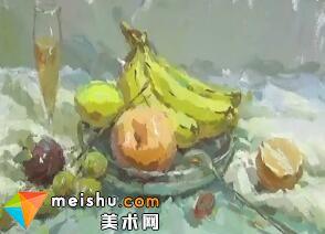 中国美术联考色彩教学-龚永光色彩果盘